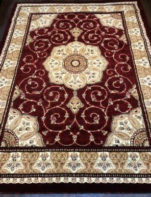 .Modern Rugs Approx 9x7ft 270x220cm Woven Thick Sale Top Quality Red New Luxury